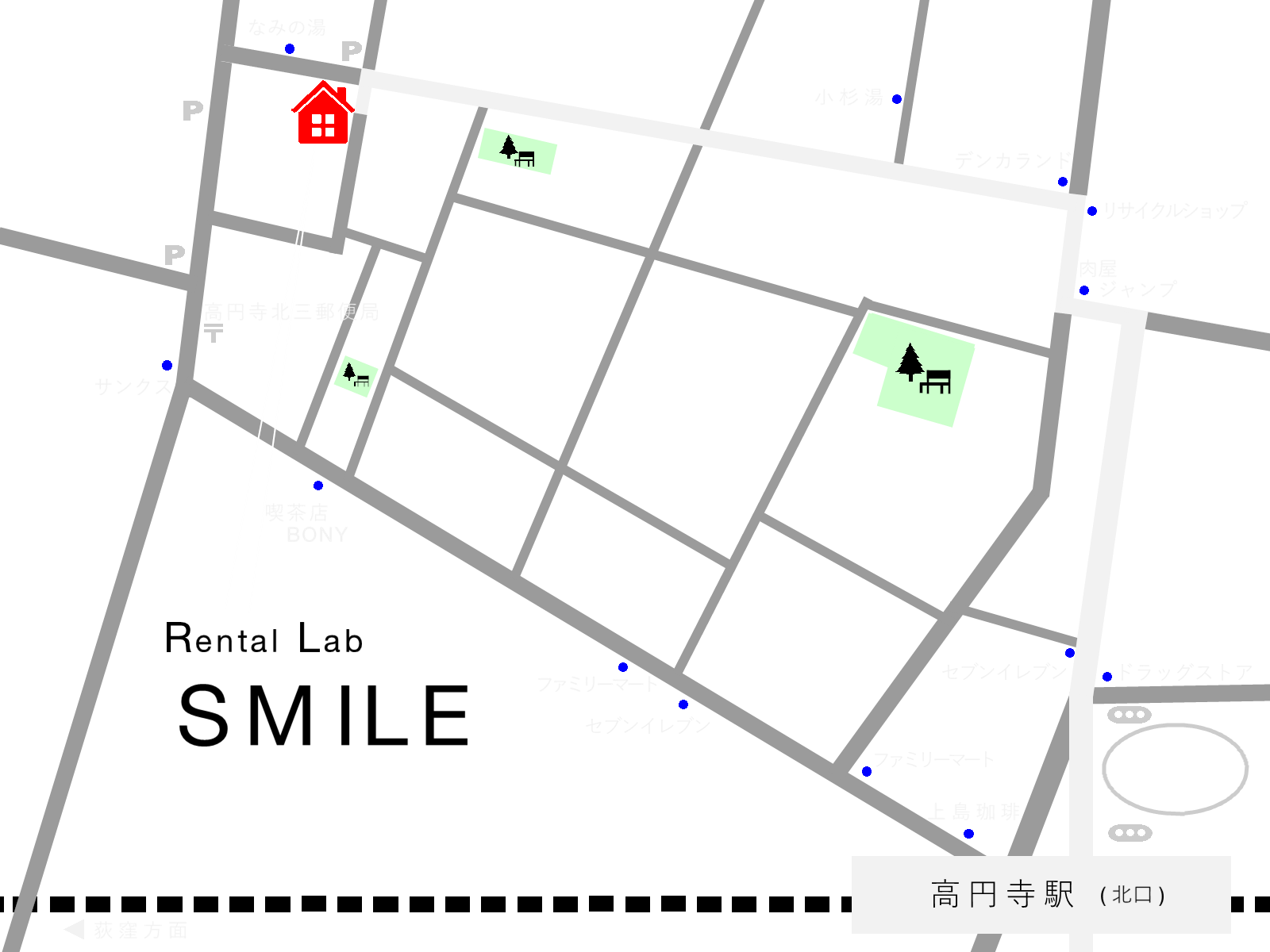 rental lab smile map